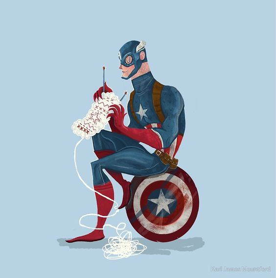 superheroes knitting … ~by karl james mountford - Visit to grab an amazing super hero shirt now on sal: