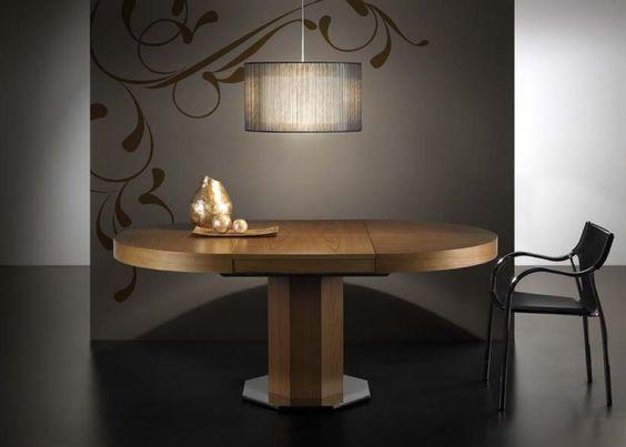 Mesa de comedor redonda extensible,disponible en medidas ...