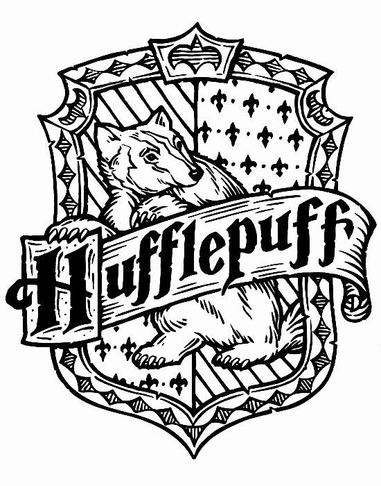 Harry Potter House Crests Coloring Pages