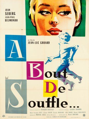 Poster of A bout de souffle directed by Jean-Luc Godard, 1960