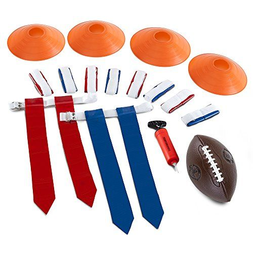 Stumptown Sportz Flag Football Flags Set Includes 10 Flag Belts For 5 X 5 4 Cones Youth Football Hand Pump Carrying Bag Complete Flag Football Belt Flag Football Youth Football Hand Pump