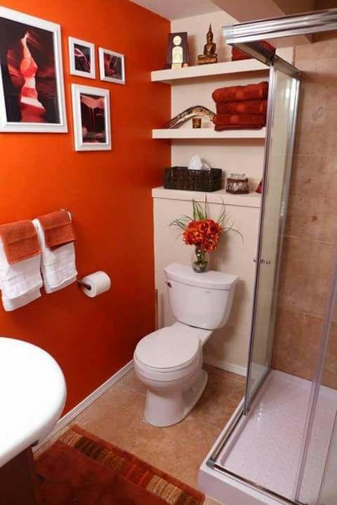 Orange Bathrooms