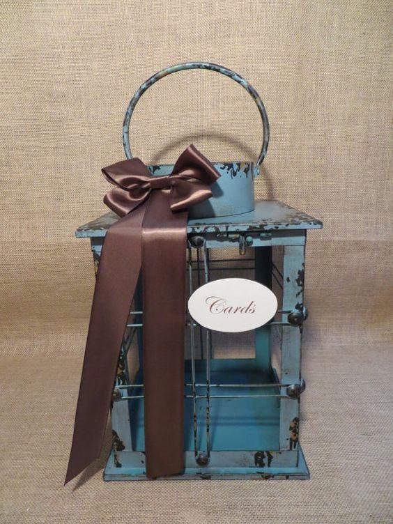 Nautical Wedding Lantern Card Holder