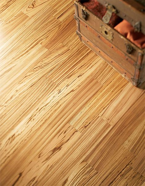 Exotic flooring by Mullican - Zebrawood engineered: