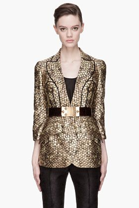 Womens Gold Blazer | Fashion Ql