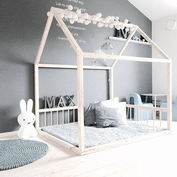 Camas Casita para habitaciones infantiles, niños y niñas
