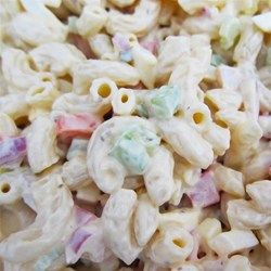 The BEST Macaroni Salad You Will EVER Have!! - Allrecipes.com big macaroni noodles and chop cukes chunky.