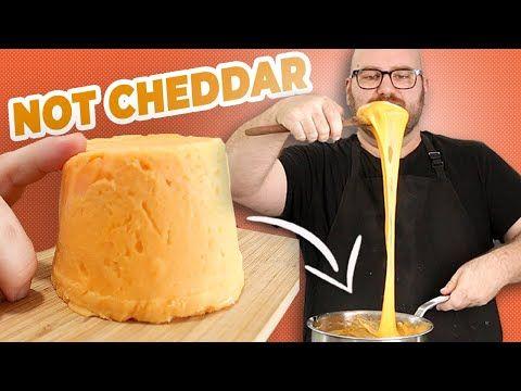 Making Incredibly Meltable Vegan Cheddar Slices At Home Youtube In 2020 Vegan Cheddar Vegan Cheddar Cheese Food