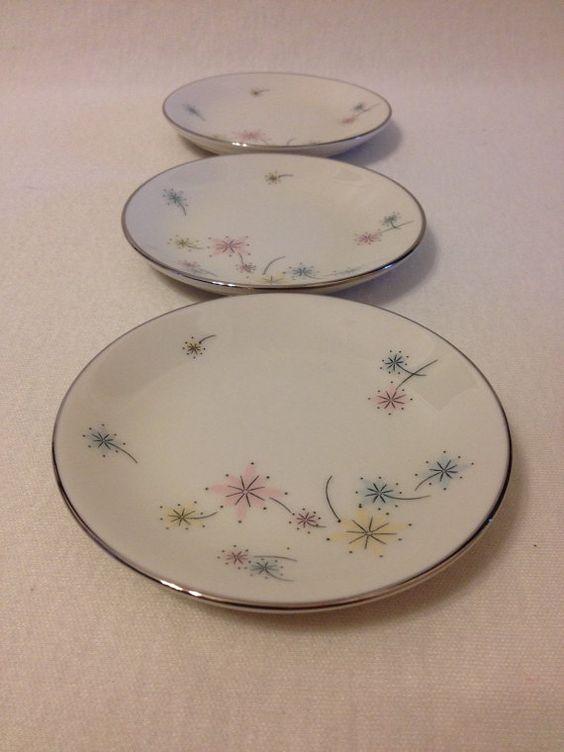 Vintage Nancy Prentiss Pastella Plates Set by WhimsicalStewVintage