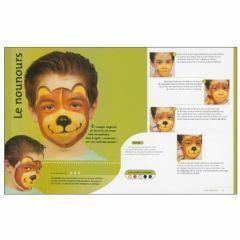 maquiller visage enfant en ours les etapes de realisation du maquillage livre enfant maquillage. Black Bedroom Furniture Sets. Home Design Ideas