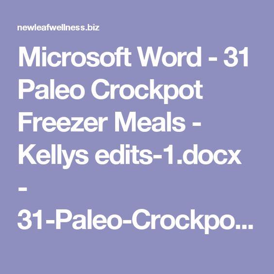 Microsoft Word - 31 Paleo Crockpot Freezer Meals - Kellys edits-1 - grocery list word