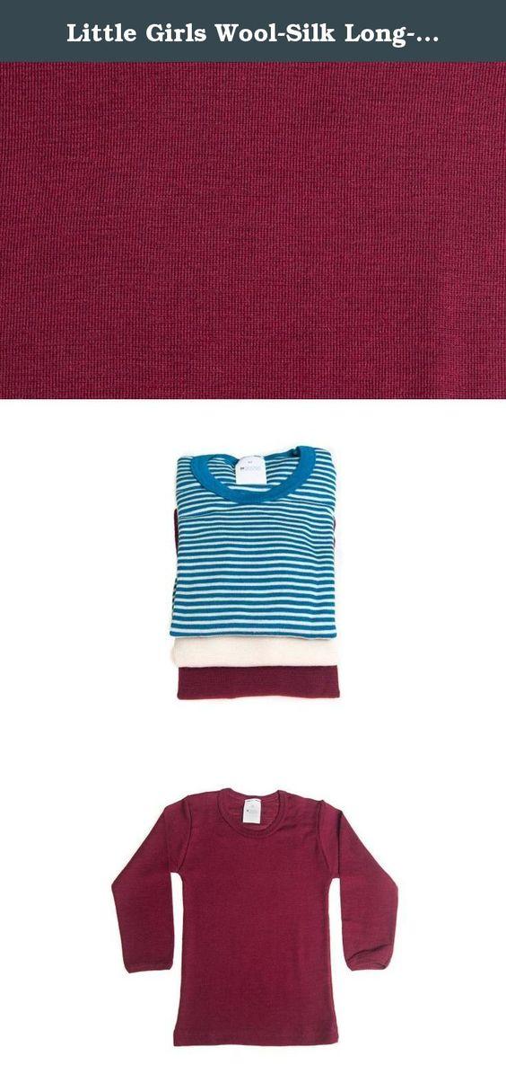 Little Girls Wool-Silk Long-Sleeved Undershirt,Bordeaux, s. 116/6 ...