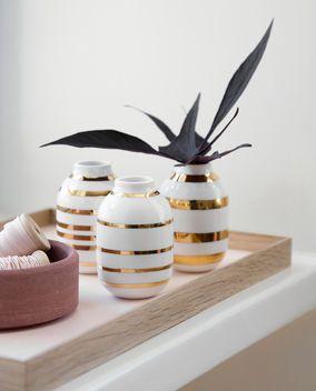 Omaggio Vase Set gold