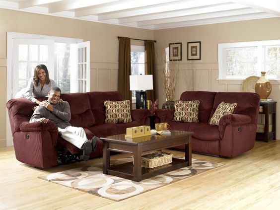 Burgundy Living Room furniture Color Burgundy Home