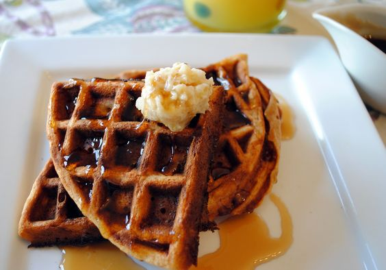 waffles pecan butter and more cinnamon syrup banana bread waffles ...