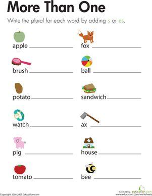 math worksheet : 1000 images about nouns on pinterest  plural nouns proper nouns  : Singular And Plural Nouns Worksheets For Kindergarten