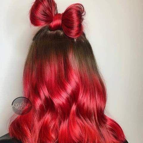 Iroiro 330 Uv Reactive Red Neon Vegan Cruelty Free Semi Permanent Hair Color Semi Permanent Hair Color Hair Styles Permanent Hair Color