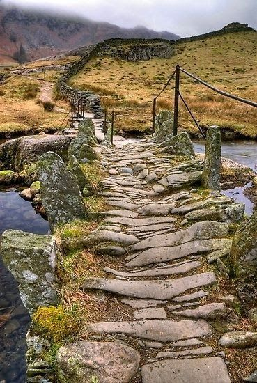 Old trail carved in stone...