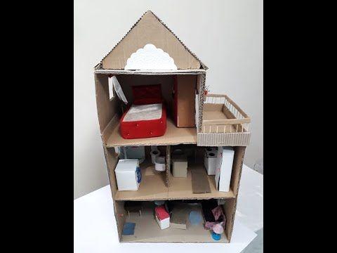 طريقه عمل بيت للعروسه باربي الجزء الاول Youtube Craft Corner Home Decor Crafts