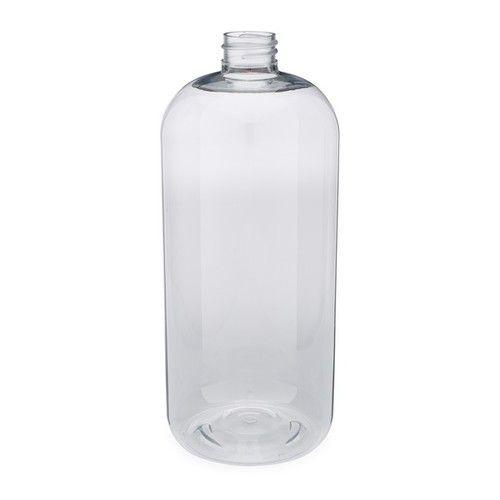 32 Oz Clear Pet Plastic Boston Round Bottles Cap Not Included 3371b13 Bclr Plastic Animals Bottle Bottle Cap