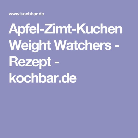 Kochbar rezepte weight watchers