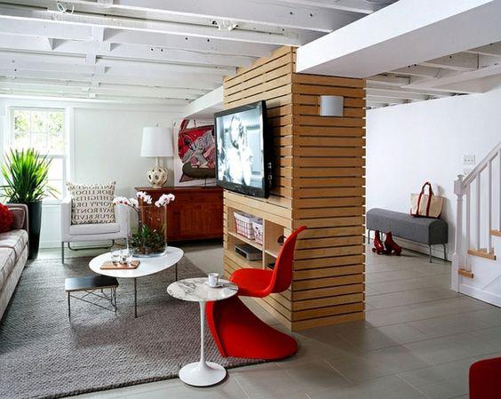 schick keller wohnung trennwand wohnwand moderne Beistelltische - wohnwand modern klein