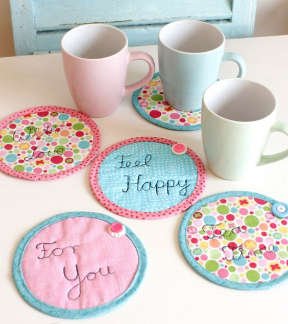 untersetzer kleine geschenke pinterest. Black Bedroom Furniture Sets. Home Design Ideas