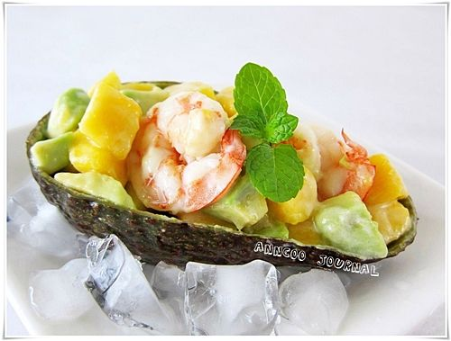 Prawn Salad and Avocado Mango