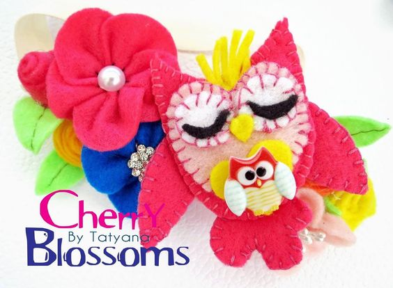 Owl headband made by Cherry blossoms by Tatyana