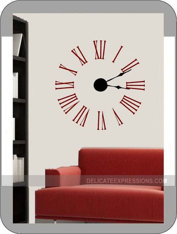 Vinyls Vinyl Decals And Clock On Pinterest