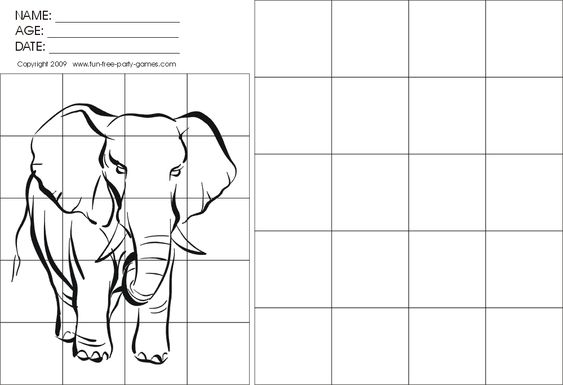 Grid Drawing Worksheets Drawing With Grids Activity