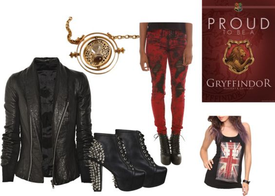 """gryffindor"" by rachel-janney ❤ liked on Polyvore"