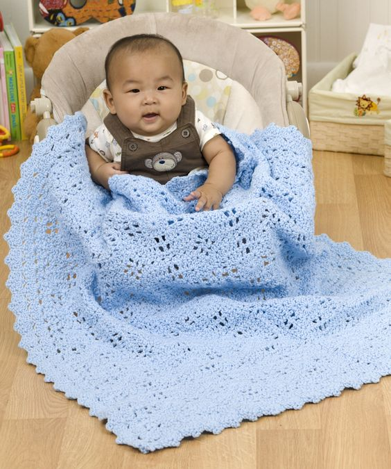 Free Crochet Patterns With Baby Yarn : Crochet Pattern: Building Blocks Baby Blanket by Red Heart ...