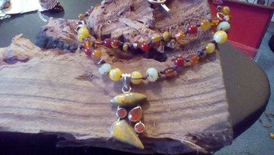 Multi strand hand knotted necklace.. special price by halfmoonunder on Etsy
