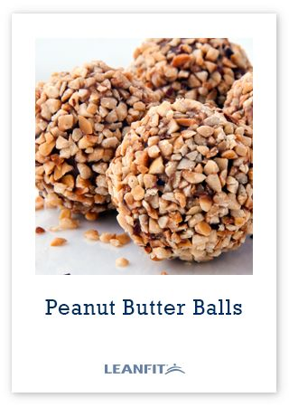 Peanut Butter Balls -- A portable snack that you can take to the gym for a quick after-workout snack or use as a high protein snack anytime to satisfy cravings.