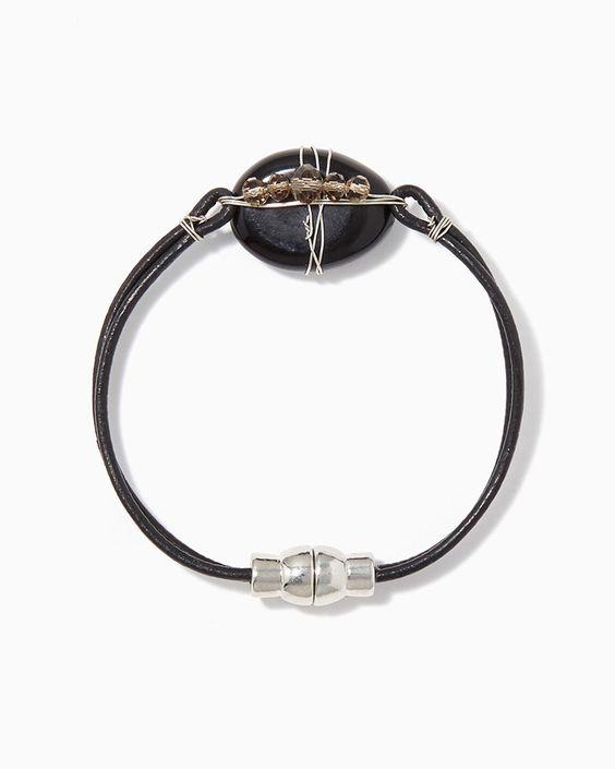 charming charlie | Audra Stone Wrapped Bracelet | UPC: 400000071923 #charmingcharlie