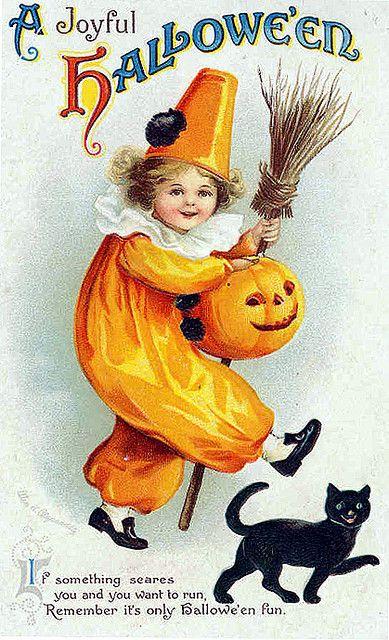 Vintage Halloween Postcard: