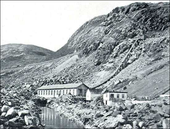 Newfoundland's first hydro-electric generating station was built at Petty Harbour in 1900. Description from heritage.nf.ca. I searched for this on bing.com/images