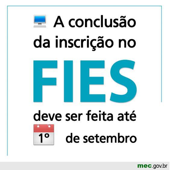 Atenção, estudantes! Novo prazo para obter o benefício do #Fies; até 1º de setembro. Acesse: http://goo.gl/M7ARy