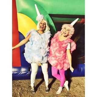 Sugary Sweet Cotton Candy   32 Amazing DIY Costumes That Prove Halloween Is…