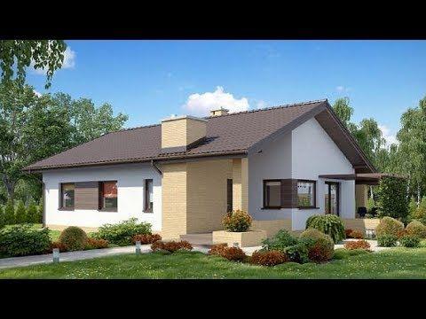 6 Casas De Dos Aguas Sencillas Fachadas Y Planos Youtube Dream House Plans House Styles House