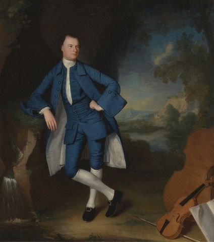 George Romney, 1734–1802, British, Portrait of a Man, between 1758 and 1760, Oil on canvas, Yale Center for British Art, Paul Mellon Collection: