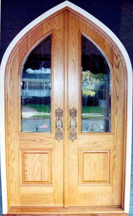 Arch And Round Top Door DBL G114ATG 1 Gothic Round Top Glass Panel Double M