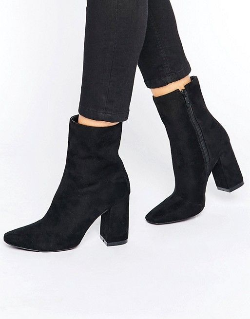 Ankle boots with block heel for women