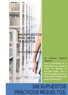 248 SUPUESTOS PRÁCTICOS RESUELTOS de oposiciones a Educación Infantil