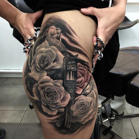 Gun And Roses Tattoo Pinterest • T...