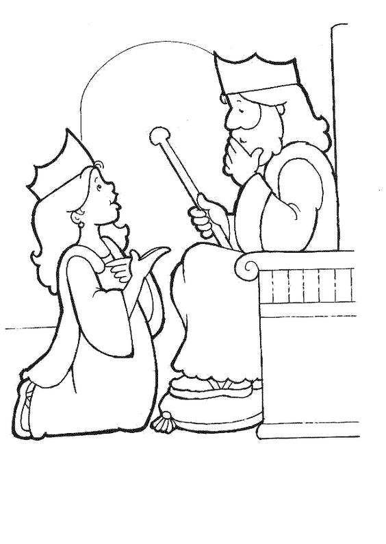 Queen Esther coloring page. #Bible #story #printable # ...