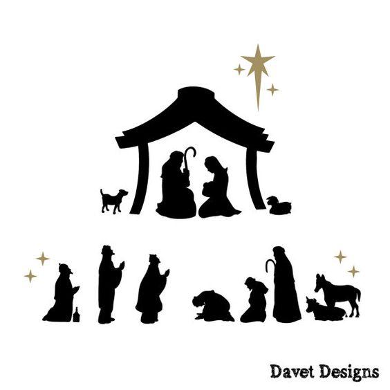 Letras de vinilo de escena de Natividad encaja por DavetDesigns