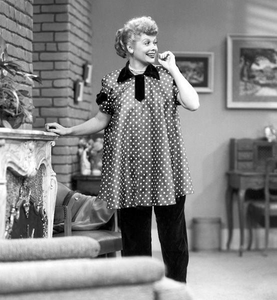Infantile Behavior    In 1952, Lucille Ball made history by being the first woman to show off a pregnancy onscreen in the wildly popular I Love Lucy. Her button-down smocks and tent dresses couldn't have been more demure, but the country is still reeling.