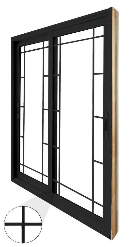 71 75 Inch X 79 75 Inch Clear Lowe Argon Painted Black Double